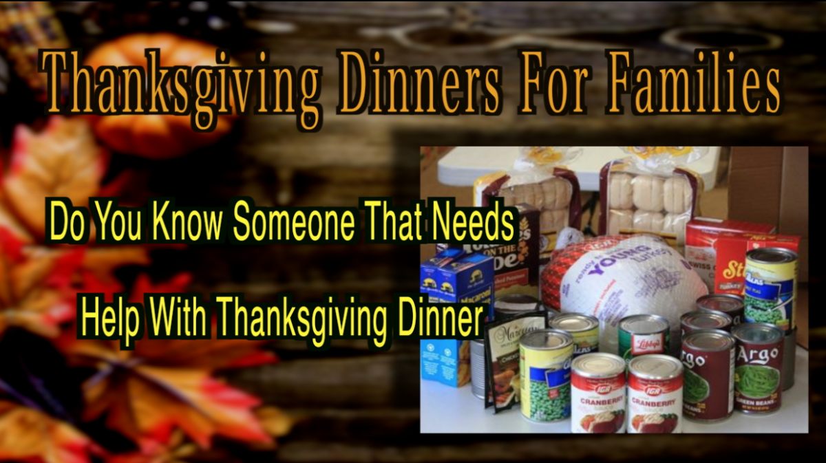 Thanksgiving Dinner For Families in Need